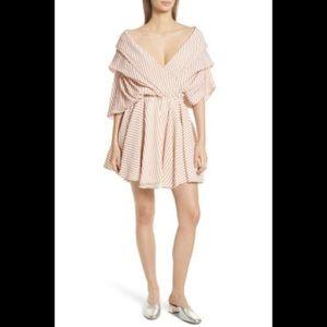 "Caroline Costas ""Marchella"" stripe fit flare dress"